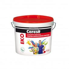 Ceresit Еко краска акриловая белоснежная, 10л