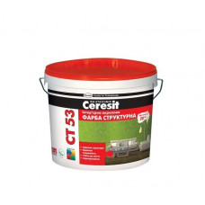 Ceresit СТ-53 краска структурная акриловая интерьерная, 10л