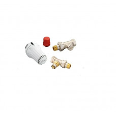 Комплект Danfoss Клапан RA-FN+термостатический елемент RAS-C+запорный клапан RLV-S, Прямой