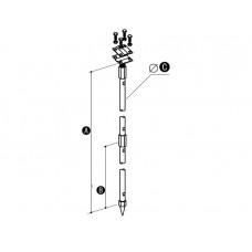 Заземлитель штыревой (комплект 2x 1.5 - метра) ОС