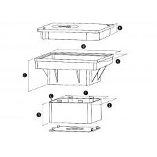 Корпус для контрольного соединения в грунте(комплект)