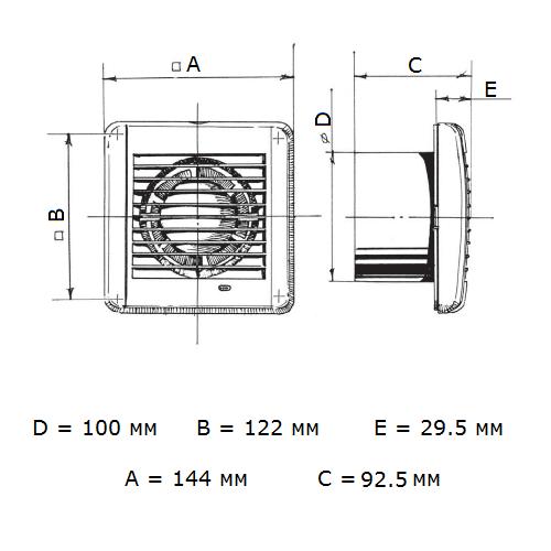 Blauberg Aero Vintage 100 бытовой вентилятор