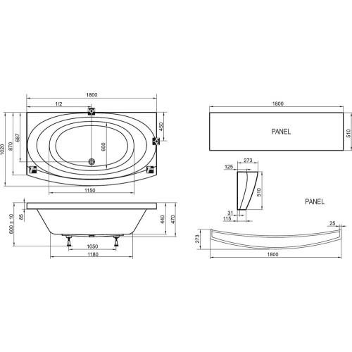 Акриловая ванна Ravak Evolution 180х102