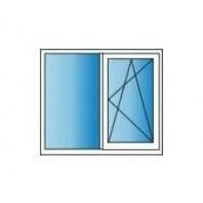 Металлопластиковые окна REHAU Euro 60 1300х1400 Однокамерное
