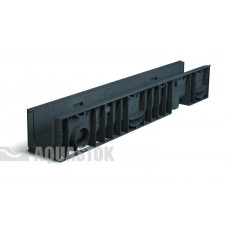 Aquastok желоб дренажный пластиковый с оцинкованной решеткой H150