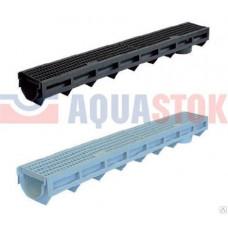 Aquastok желоб дренажный пластиковый с пластиковой решеткой H100